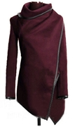 Women Latest Poncho Style Outerwear Cardigan Maroon