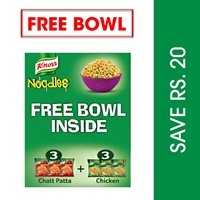 Knorr Noodles Chicken/Chatpatta 3+3 with bowl