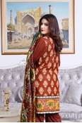 Buy SANA AND SAMIA TWILL PALACHI PRINTED  VOL 1 BROWN UW17-TPP-004B  online