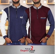 Pack of 2 Elegent Casual T-shirts