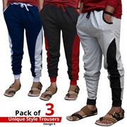 Pack of 3 Unique Style Trousers Design 4