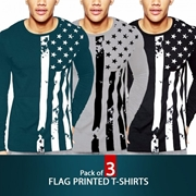 Pack of 3 Flag Printed T-shirts
