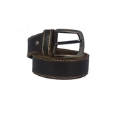 House of Leather Black - Genuine Leather Men Belt - Double Stitched