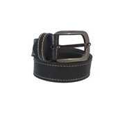 House of Leather Black - Genuine Leather Men Belt - Single Stitched