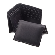 The Shopkeeper Pack of Men Rexine Black Wallet and Card Holder W-9500