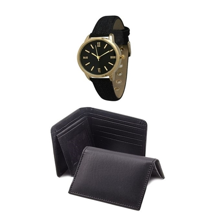 Buy The Shopkeeper Pack of 3 - Wallet, Card Holder and Watch For Men - WW-09  online