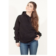 Wear Bank Black Pull Over Fleece Hoodie for Women - WH-91