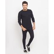 Wear Bank Black Cotton Thermal Suit for Men - Th-51