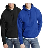 Pack of Two, Black And BlueMen Hoodie