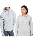 Pack of Two, Grey Hoodie for Men & Women