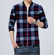 Men's Checkered Style Fleece Zipper ZFM-VT-003
