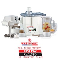 Westpoint 10-in-1 Food Factory - WF-8810 - WITH 1 Year Installment plan
