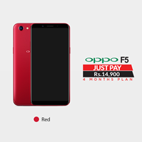 Oppo F5  WITH 4 MONTH Installment Plan