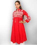 Big B Kurti: #306-RED-KURTI