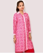 Big B Kurti: PINK#416-FANCY NET SHIRT [STITCHED]