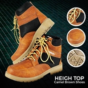 Buy Heigh Top Camel Brown Shoes  online