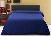 Dyed Quilt Cover Navy Blue