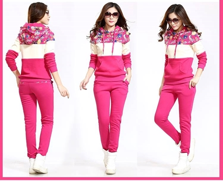 98bd2a0507 Womens Tracksuits Foral Print Patch SKU-NY-VT-001