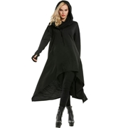 New Winter Black Women's Casual Loose Long Hoodie SKU-NY-VT-002