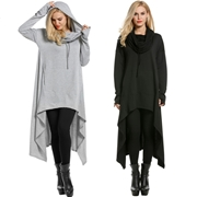 Pack of 2 Women's Casual Loose Long Hoodie SKU-NY-VT-008