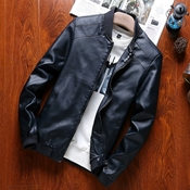 Buy Black Leather Jacket  For Men SKU-NY-VT-014  online