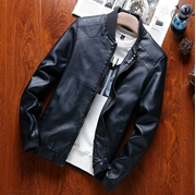 Black Leather Jacket  For Men SKU-NY-VT-014