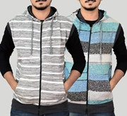 Pack Of 2 Stylish Printed Zipper Hoddie  For Men SKU-TS-AA-009