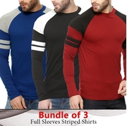 Pack Of 3 Long Sleeves Stylish T-shirt For Men SKU-TS-AA-011