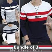 Bundle Of 3 Stylish T-shirt For Men's SKU-TS-AA-012