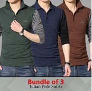 Bundle of 3 Julian Long Sleeves  Polo T-shirt