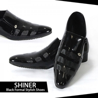 Shiner Black Formal Stylish Shoes