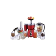 Westpoint WF-2803 - 5-in-1 Jumbo Food Factory with Extra Grinder - Red