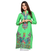 BBK: Green#323-Embroidered Kurti