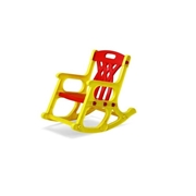 BTL Toys Rocking Chair - Yellow & Red
