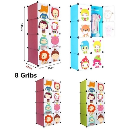 BTL Toys Frosted Plastic KIDS CARTOON With Magnetic Doors