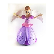 BTL Toys Angel Girl Dancing and Revolving Doll Light Projection - Pink