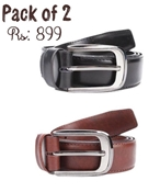 Buy Pack of 2 Genuine Leather Belts  online