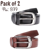Pack of 2 Genuine Leather Belts