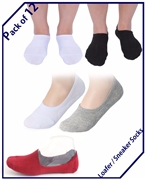 Pack Of 12 Loafers/Sneaker Socks For Him and Her