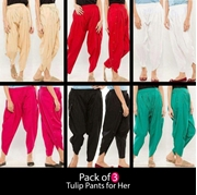 Pack of 3 Tulip Pants for Her