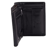 House of Leather -Black Leather Vertical Style Wallet