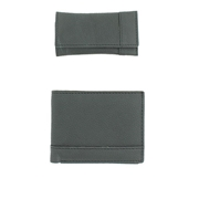 House of Leather - Black Soft Leather Wallet and Key Pouch Set