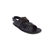 House of Leather - Black Leather Sandal