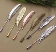 Metal Feather Lapel Pin