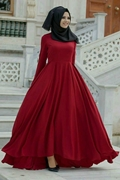 Red Frock Style Abaya for Women's