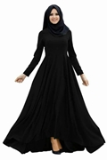 Black  Frock Style Abaya for Women's