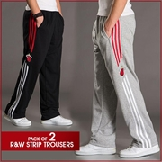 Pack of 2 R&W Strip Trousers