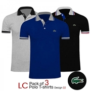 Pack of 3 LC Polo T-shirts Design 22
