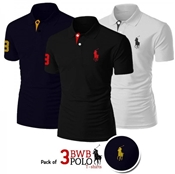 Buy Pack of 3 BWB Polo T-shirts  online