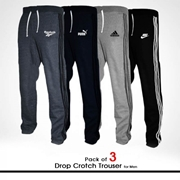 Pack of 3 Drop Crotch Trouser for Men